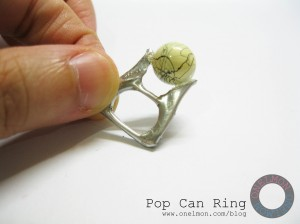 onelmon: Pop Can Ring - step 3