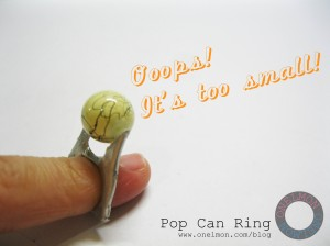 onelmon: Pop Can Ring - step 4