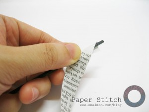onelmon: Paper Stitch - step 2