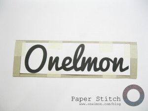 onelmon: Paper Stitch - step 8