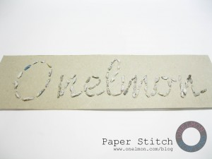 onelmon: Paper Stitch - step 15