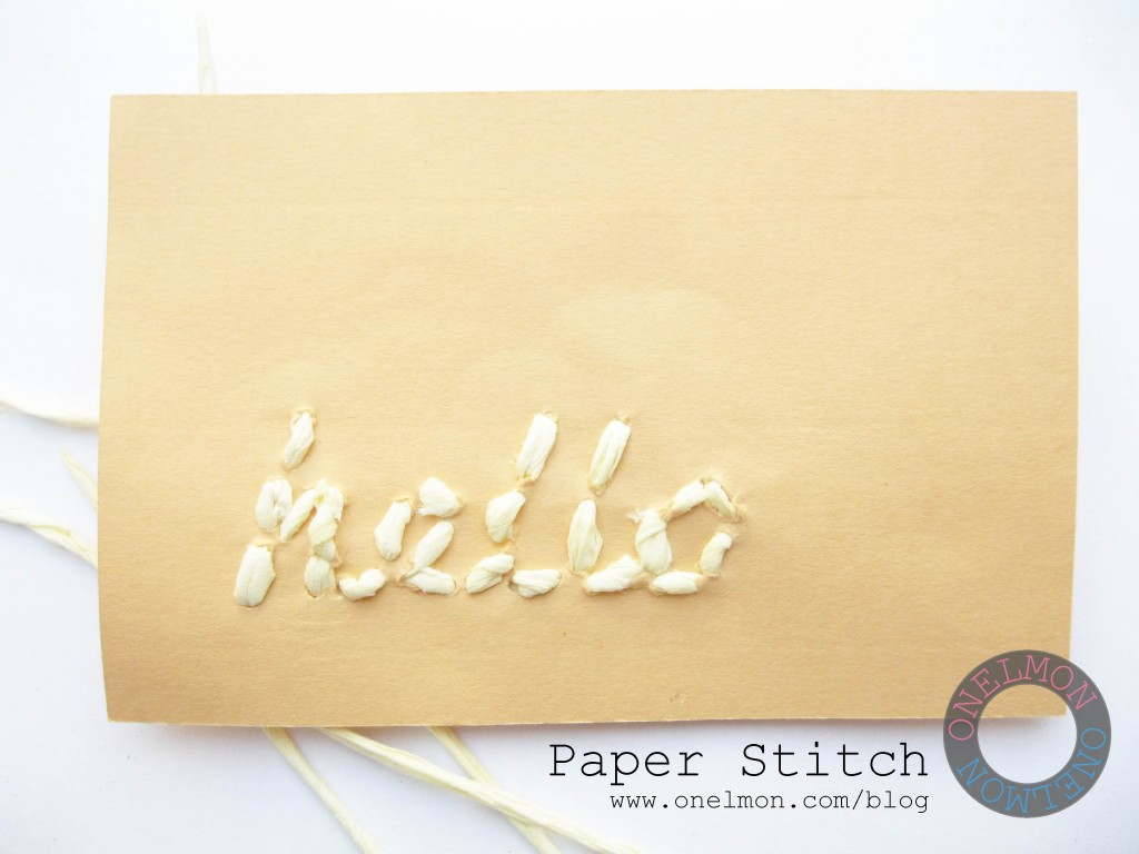 onelmon: Paper Stitch