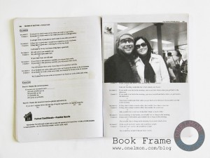 Making a photo frame from a book