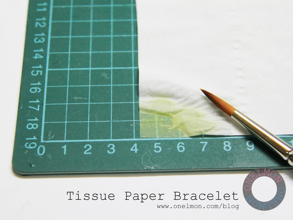 Make bracelets from a single sheet of tissue paper