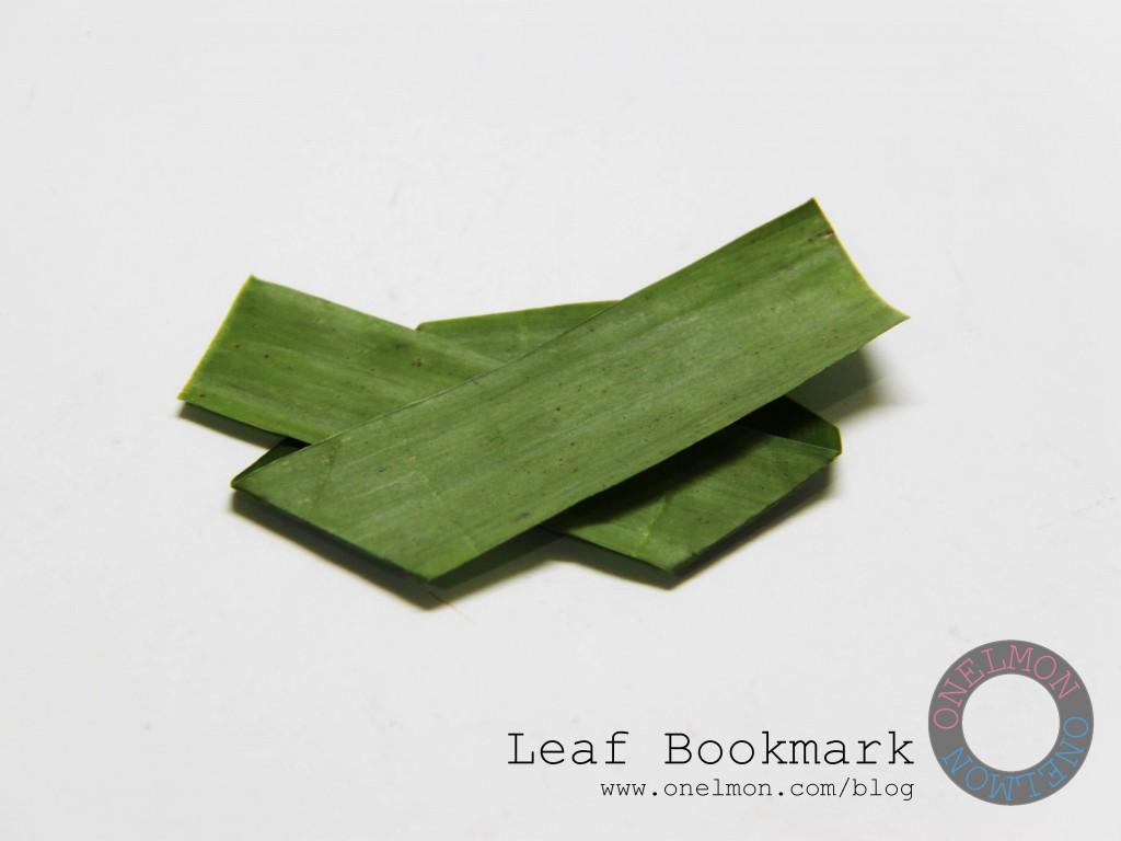 DIY leaf bookmark tutorial @ onelmon