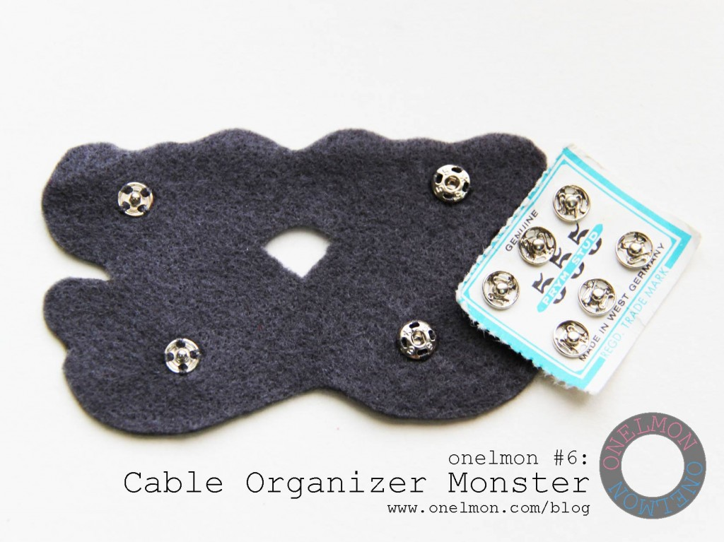 DIY Cable Organizer Monster Tutorial | onelmon