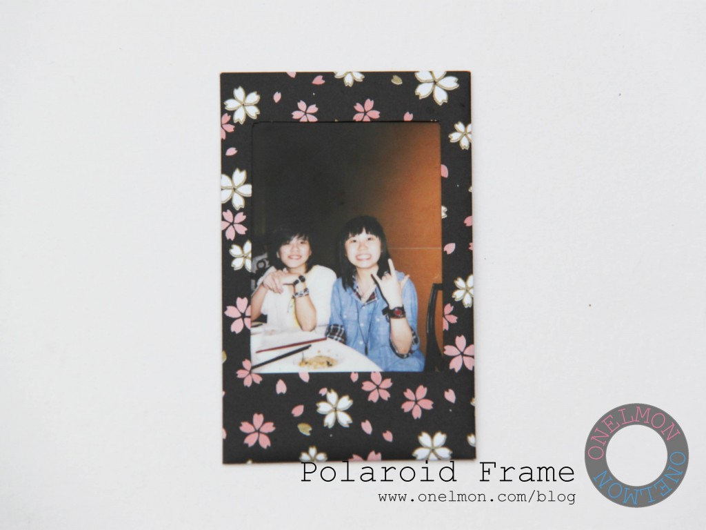 DIY Polaroid Frame tutorial | onelmon