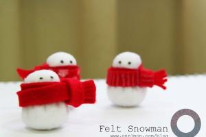 Felt Mini Snowman