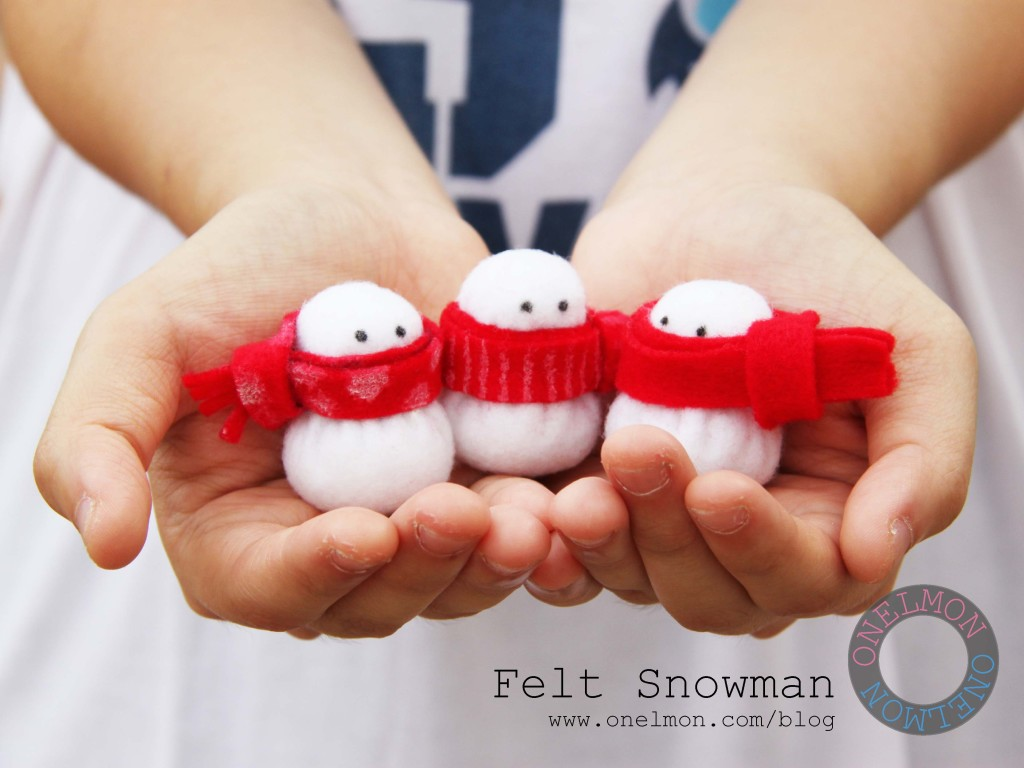 DIY Mini Felt Snowman