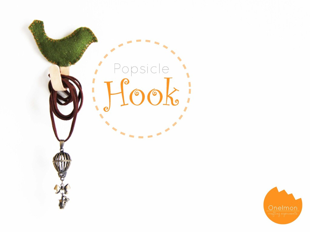 DIY Popsicle Hook | onelmon