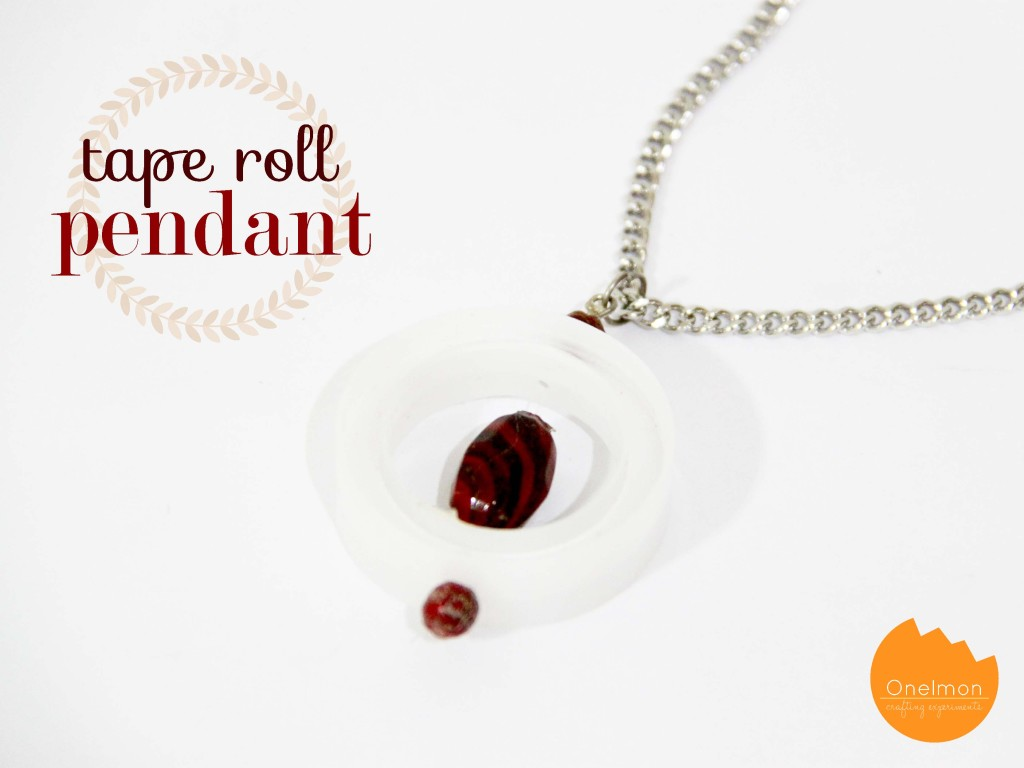 DIY Tape Roll Pendant | onelmon