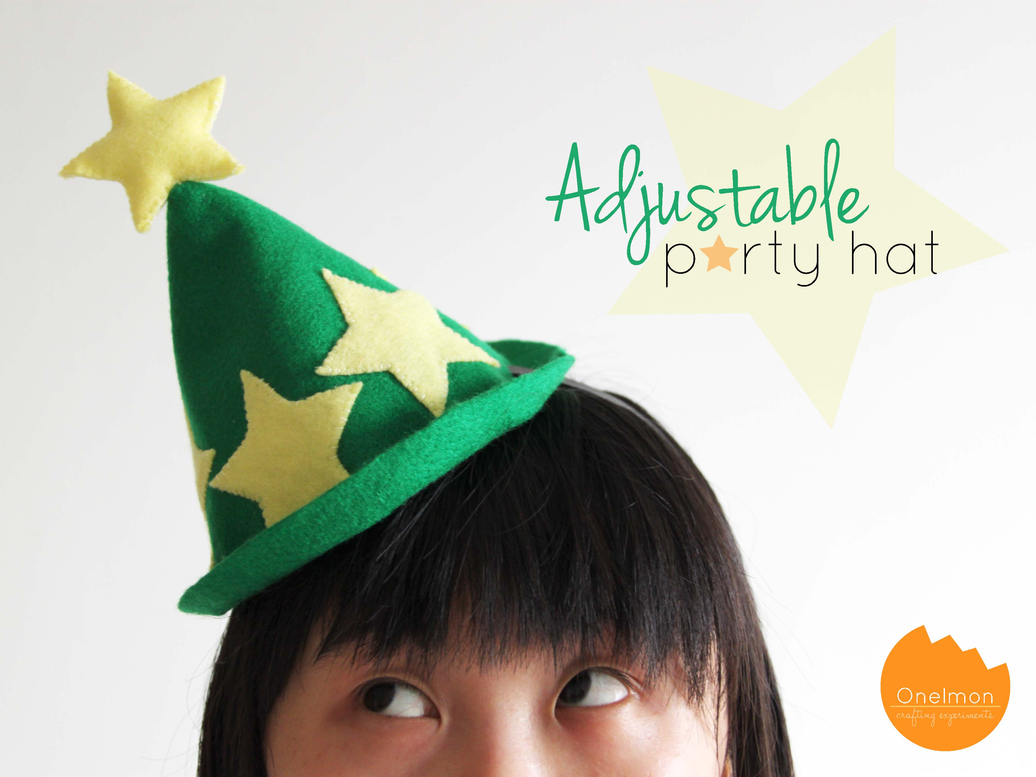 Christmas Party Hat Ideas Part - 31: DIY Adjustable Party Hat | Onelmon. Reallyu2026! When I Saw The Preview Of This  Post, I Thought U201cMan, I Looked Like I Have A Christmas Tree On Top Of My  Head!