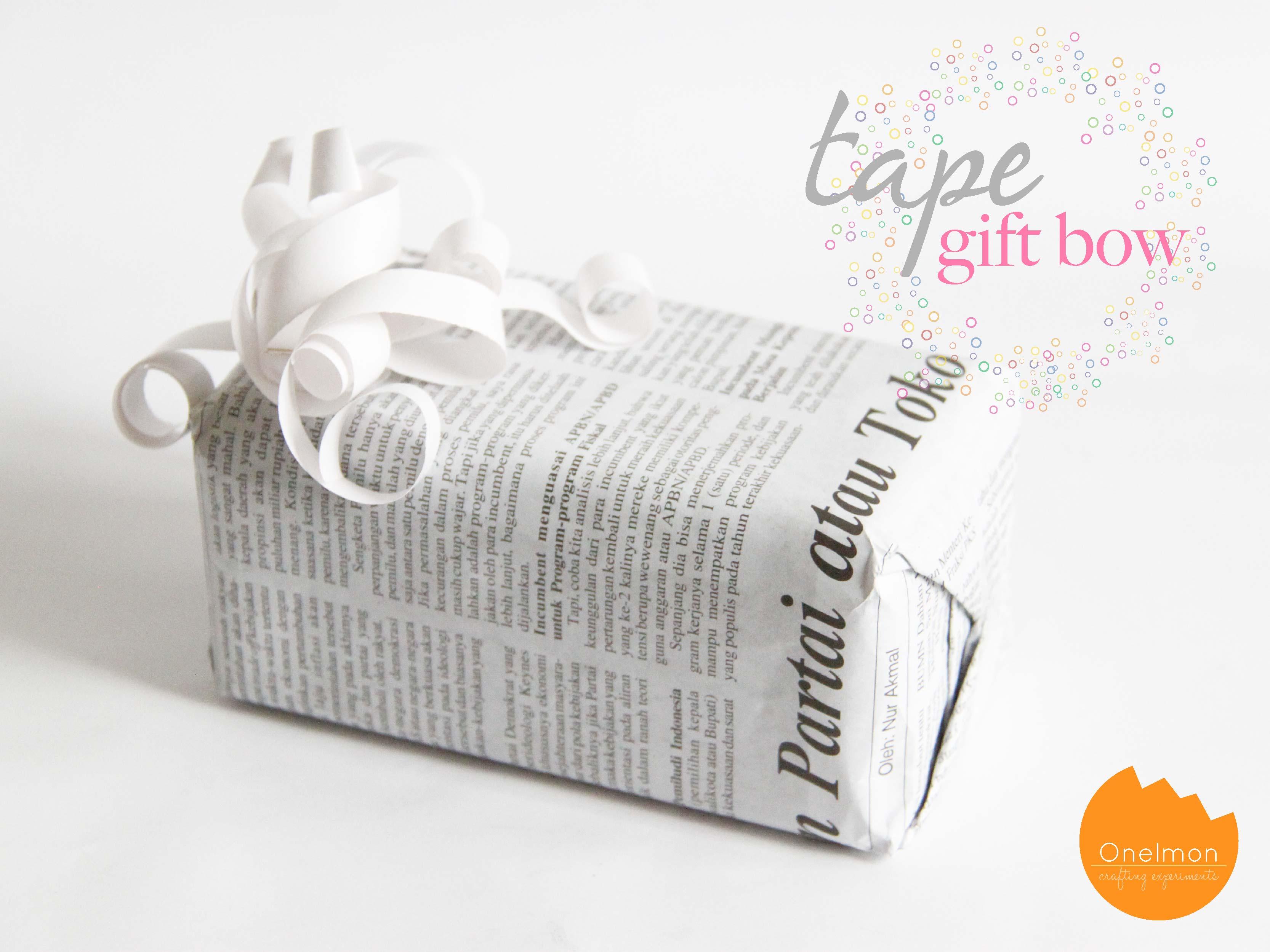 Diy Tape Gift Bow Onelmon