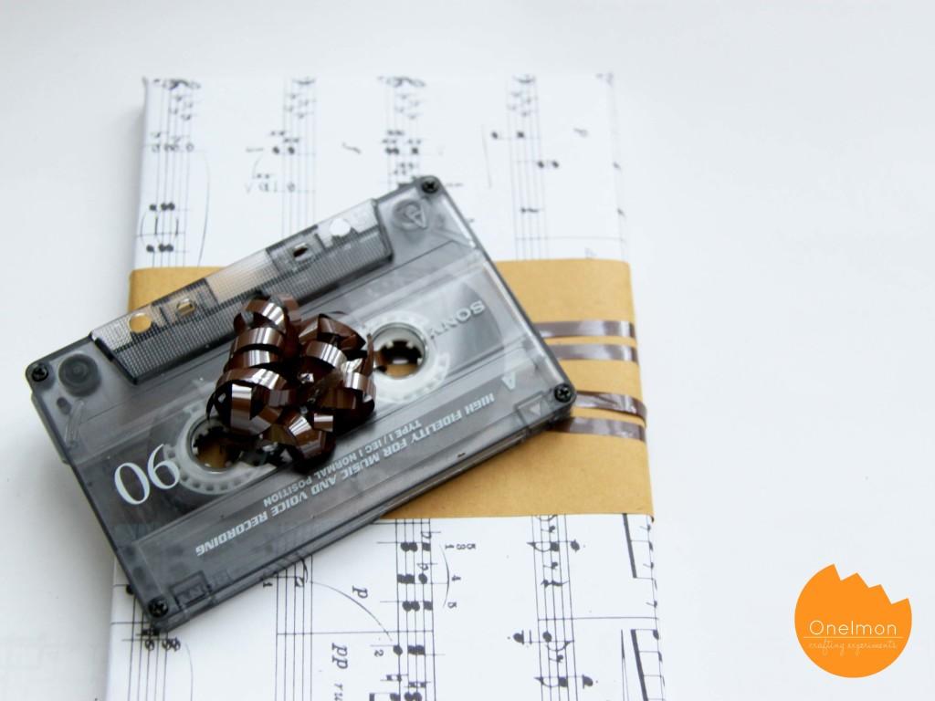 DIY Cassette Tape Gift Topper