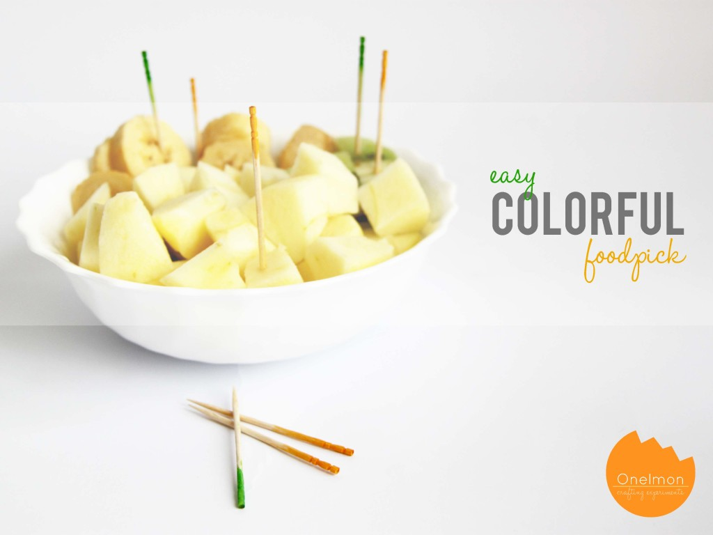 DIY tutorial: Easy Colorful Foodpick | onelmon