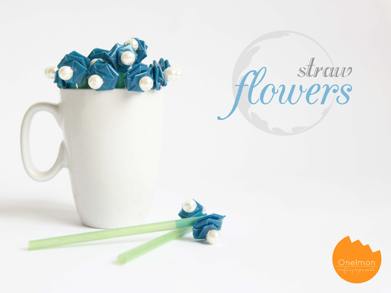 DIY Tutorial: Straw Flowers | onelmon