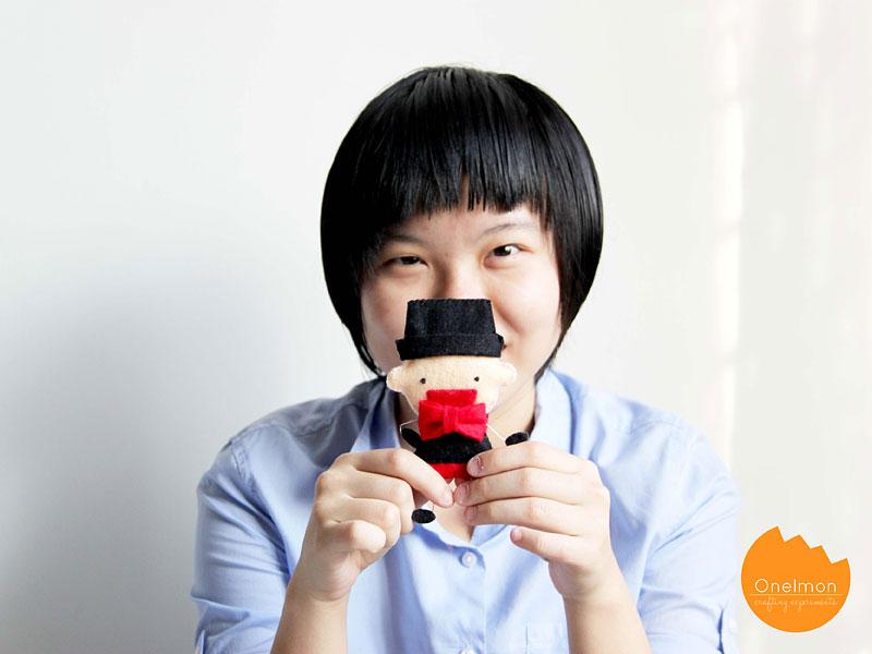 DIY Tutorial: Felt {two-faced} gentleman | onelmon