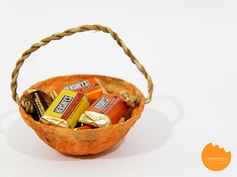DIY Tutorial: Paper Pumpkin Treats Bowl | onelmon