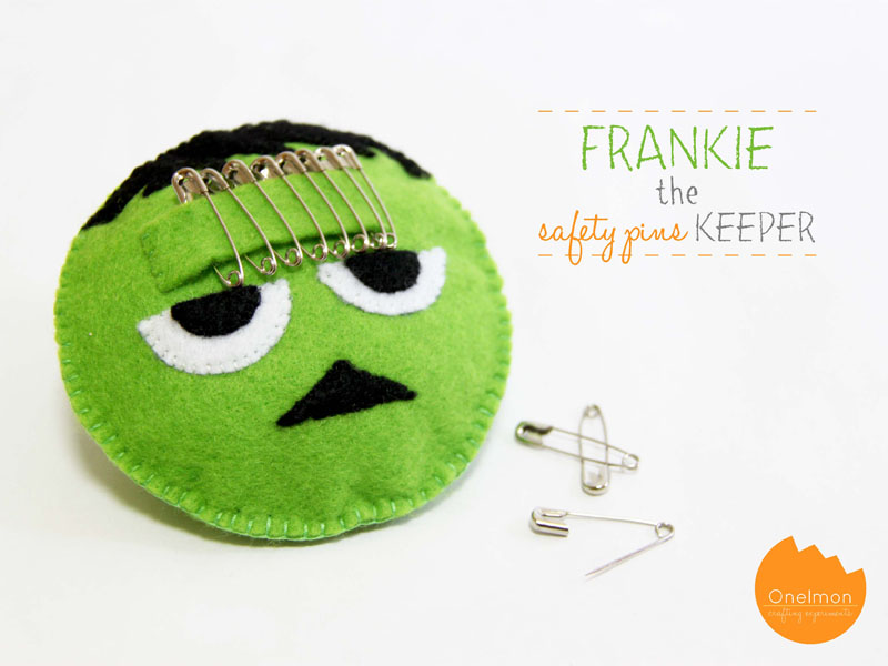 DIY Tutorial: Frankie the Safety Pins Keeper | @onelmon via A Nest for All Seasons @amyk