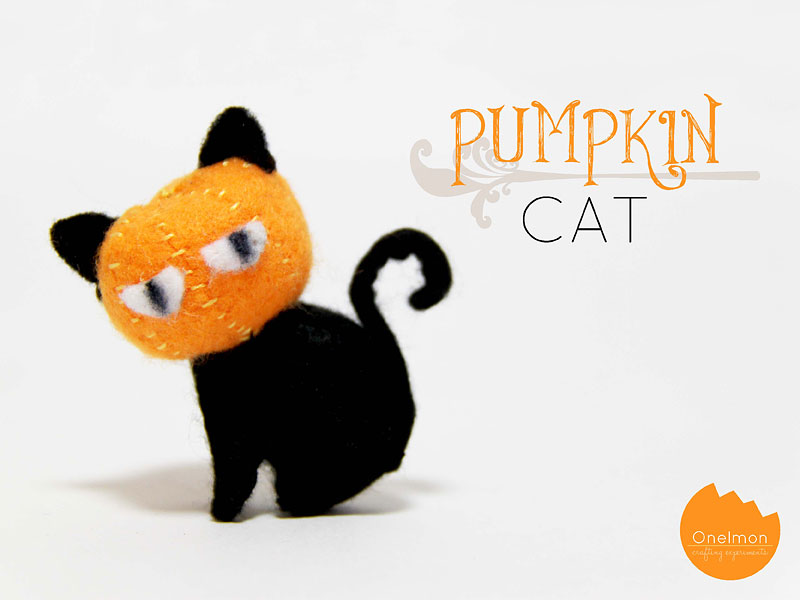 DIY Tutorial: Pumpkin Cat | @onelmon