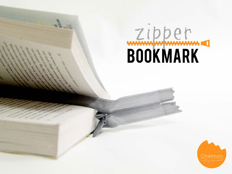 DIY Tutorial: Zipper Bookmark | onelmon