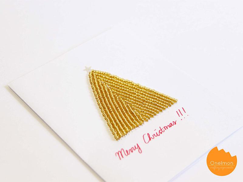 DIY Tutorial: Beaded Christmas Card | @onelmon
