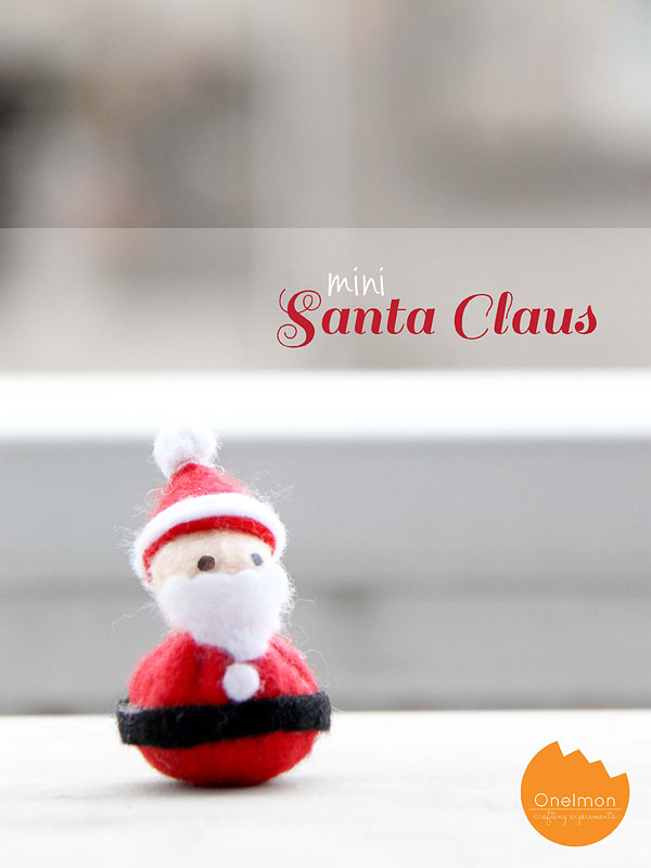 DIY Tutorial: Mini Santa Claus | @onelmon