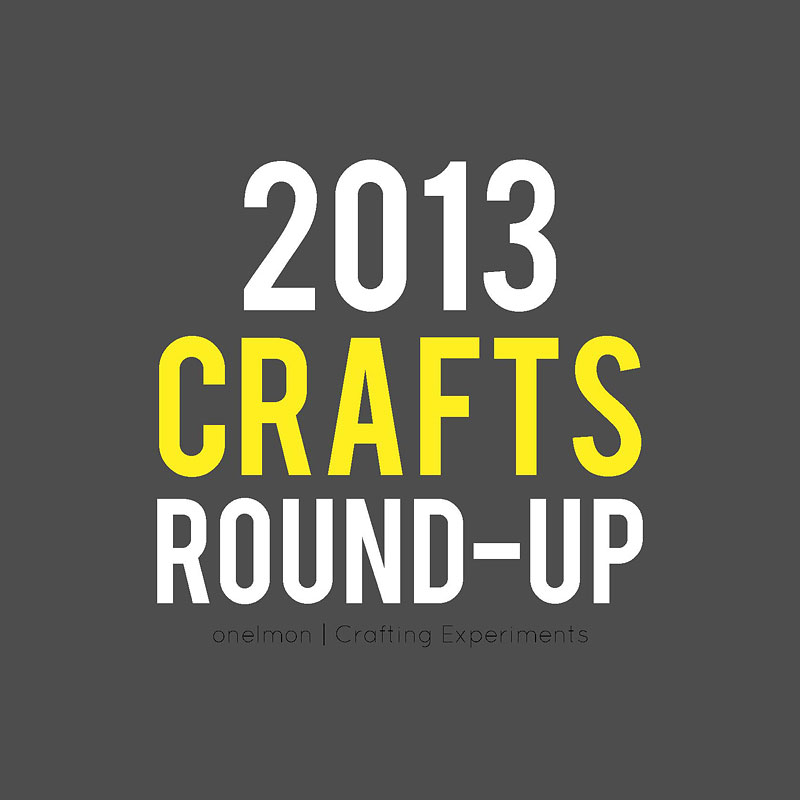 DIY Round-Up: 2013 Craft Tutorials | @onelmon