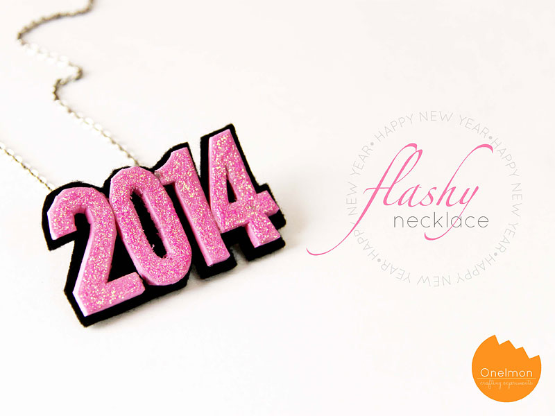 DIY Accessories: New Year Flashy Necklace | @onelmon