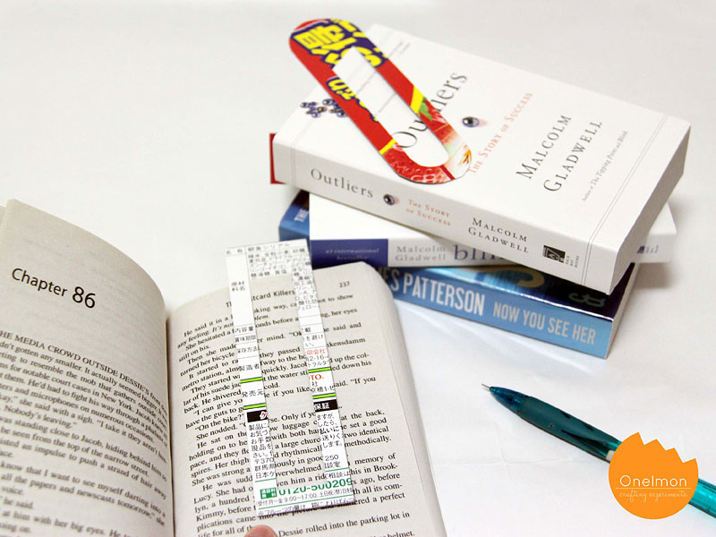 DIY Tutorial Giant Paper Clip Bookmark | @onelmon