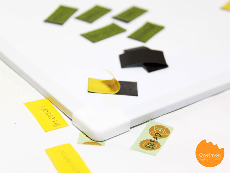 DIY Tutorial: Menu Planning with Washi Tape | @onelmon