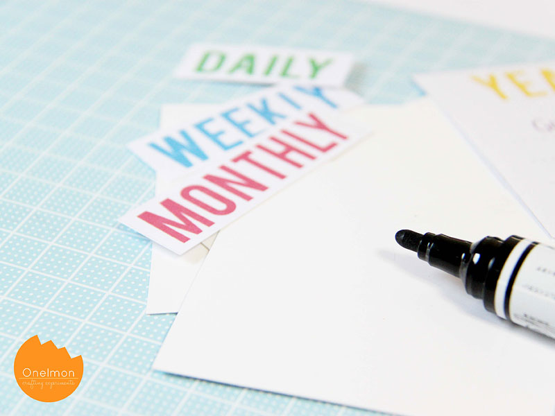 DIY Craft: New Year Resolution Board | @onelmon
