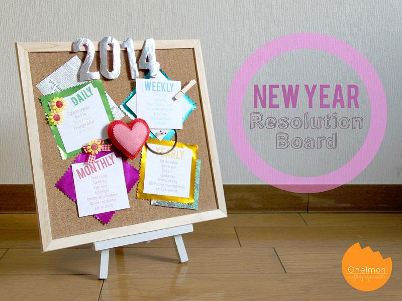 DIY Craft: New Year Resolution Board | @onelmon