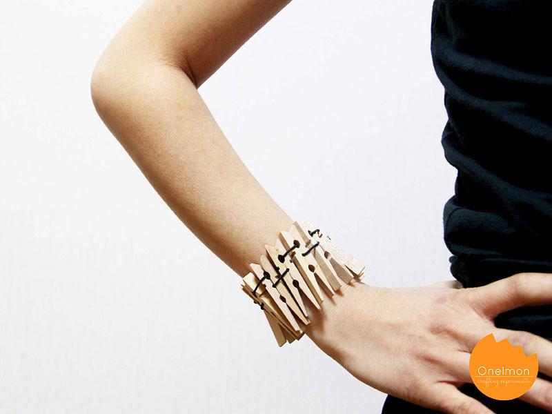DIY Tutorial: Clothes Pin Series – Bracelet | @onelmon