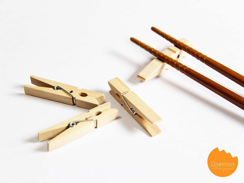 DIY Tutorial: Clothes Pin Series – Chopstick Holder | @onelmon