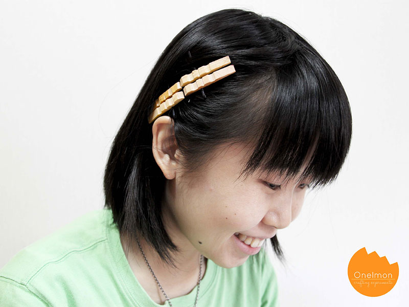 DIY Tutorial: Clothes Pin Series – Hairpin | @onelmon