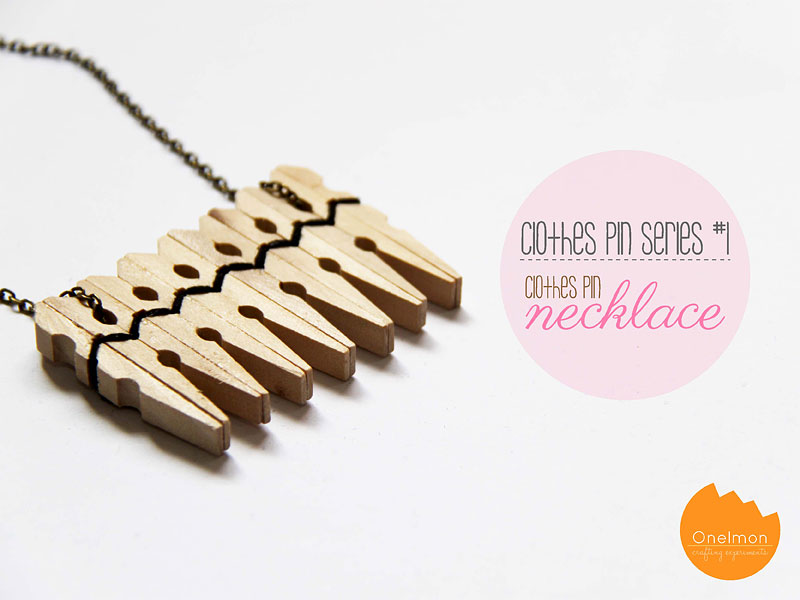 DIY Tutorial: Clothes Pin Series - Necklace | @onelmon