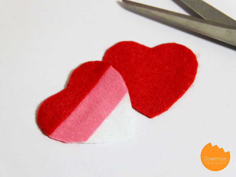 DIY Tutorial: Three-color heart | @onelmon