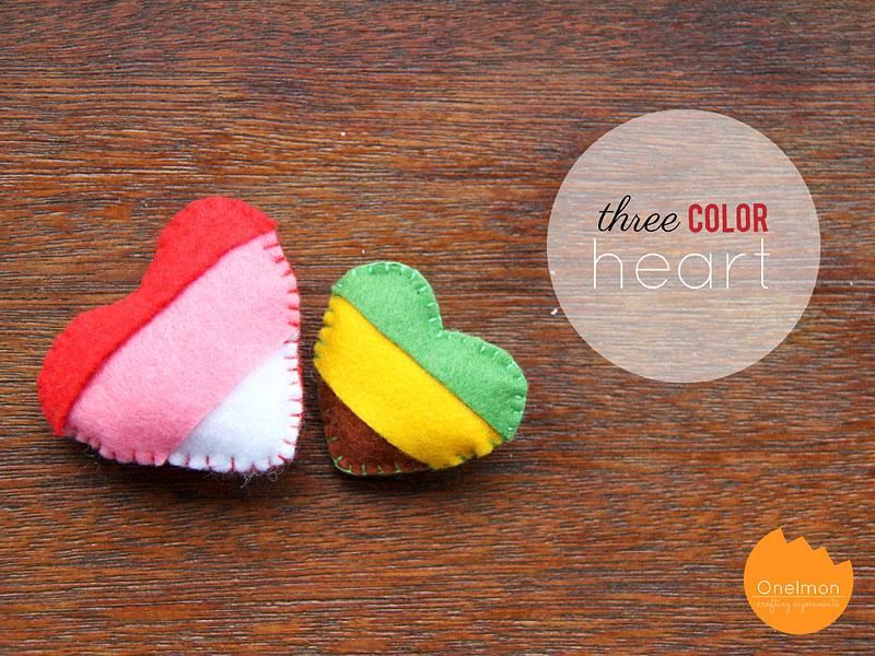 DIY Tutorial: Three-color heart | @onelmon
