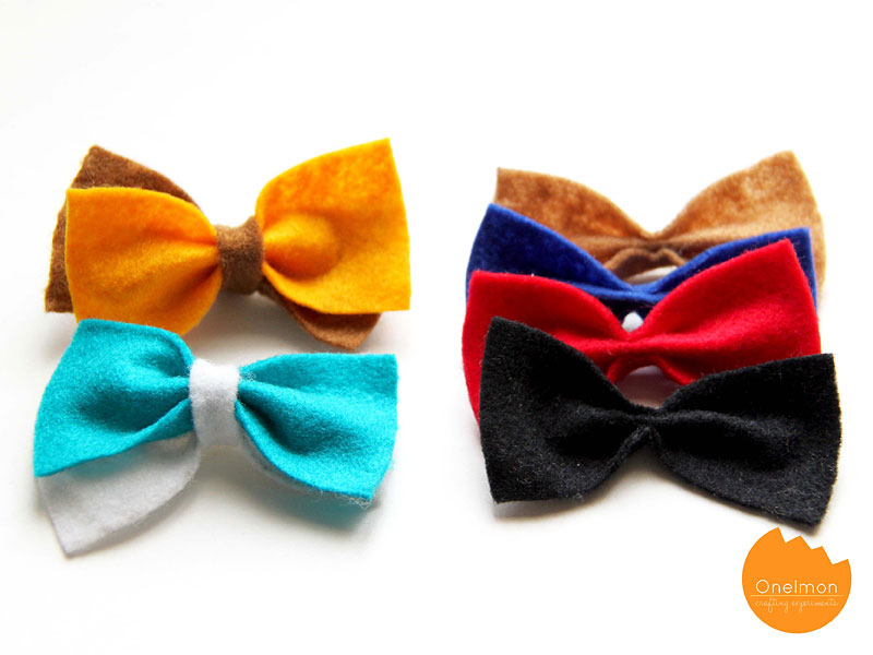 DIY Tutorial: Double Bow Clip | @onelmon
