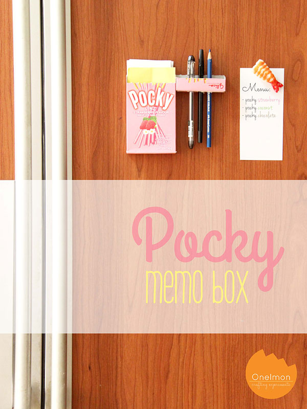 DIY Tutorial: Pocky Memo Box | @onelmon