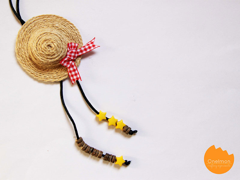 DIY Tutorial: Mini Straw Hat | @onelmon