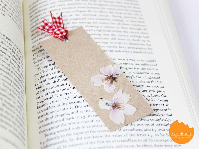 Image result for pressed flower bookmark
