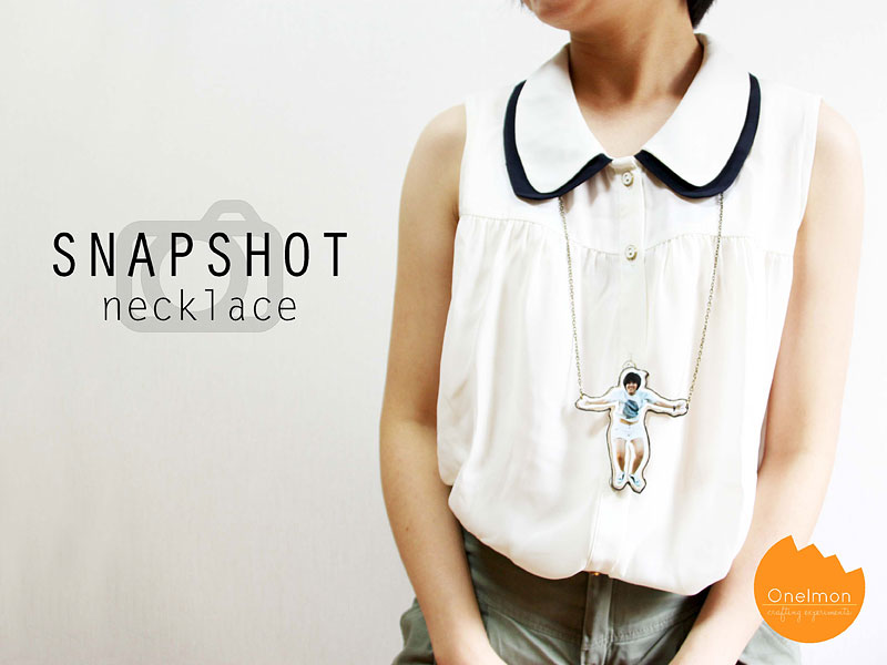 DIY Tutorial: Snapshot Necklace | @onelmon