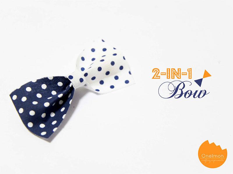 DIY Tutorial: 2-in-1 Bow | @onelmon