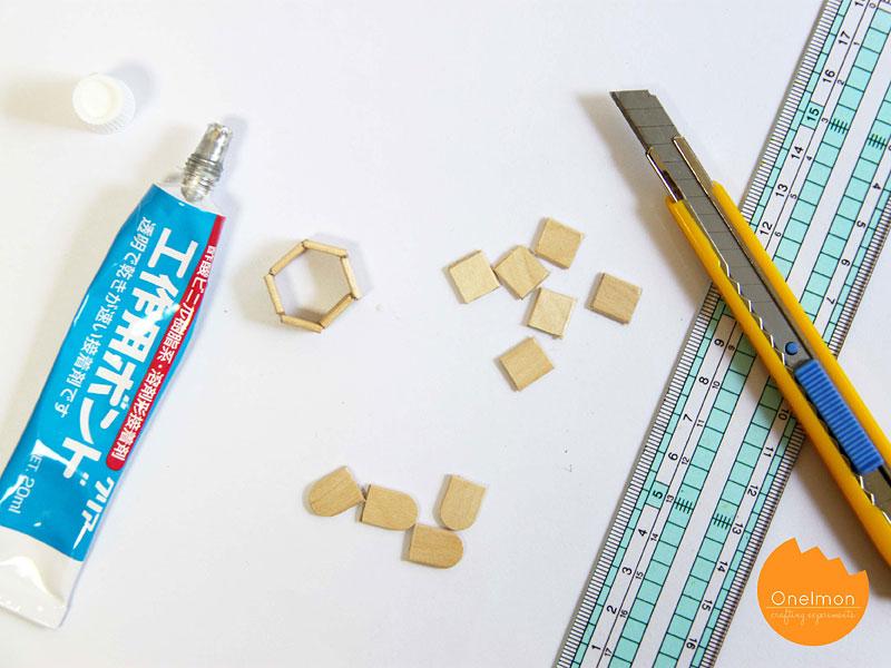 DIY Tutorial: Make a hexagon pendant from ice cream sticks | @onelmon