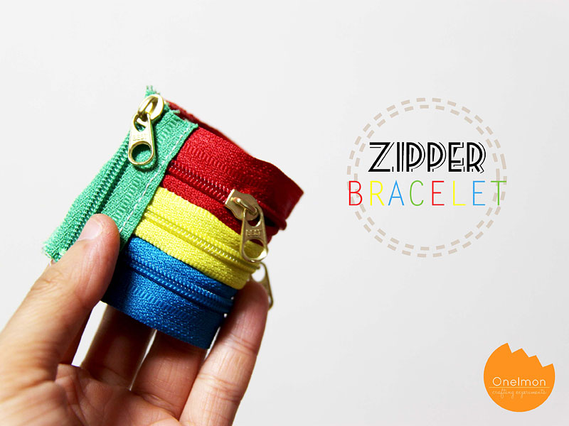DIY Tutorial: Zipper Bracelet | @onelmon