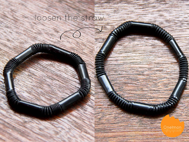 DIY Tutorial: Adjustable Straw Bracelet | @onelmon