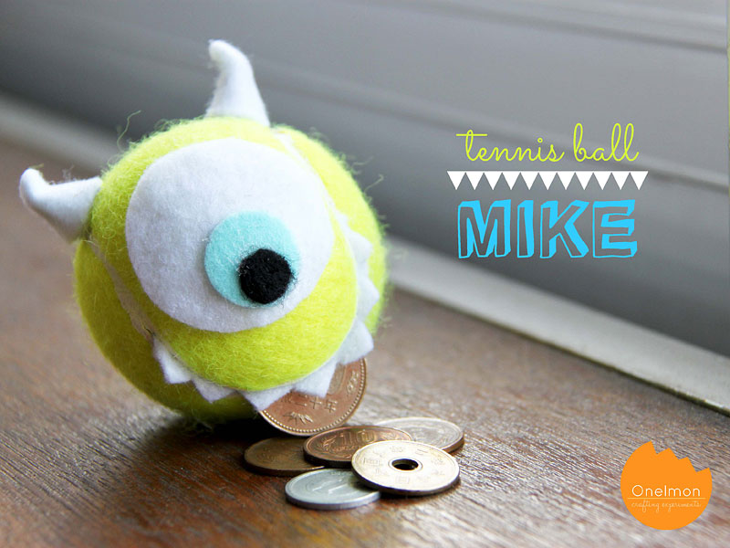 DIY Tutorial: Tennis Ball - Mike Wazowski | @onelmon