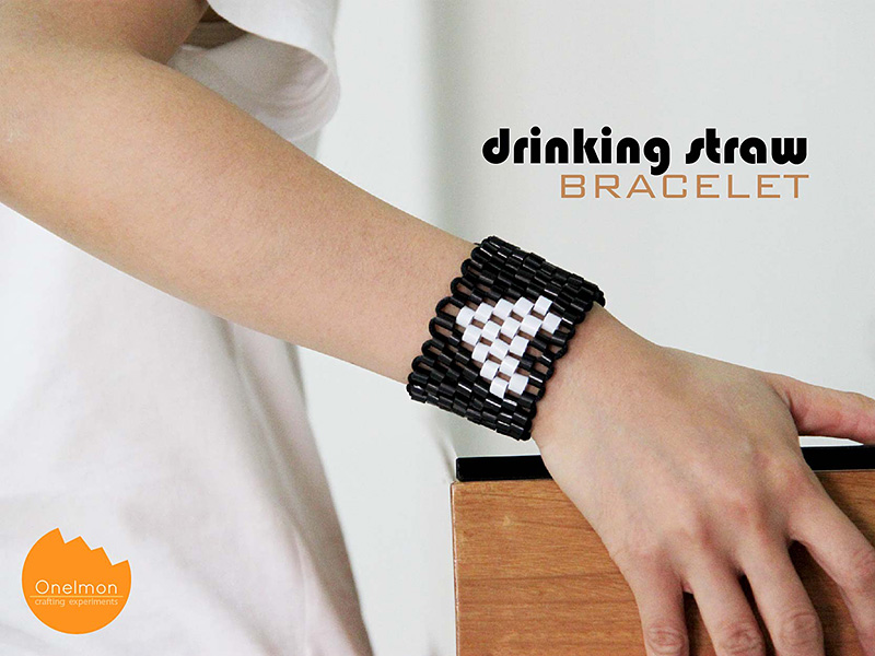 DIY Tutorial: Drinking Straw Bracelet | @onelmon